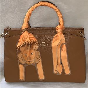 Lion 🦁 Twilly Bandeau Hair Neck Bag Tie